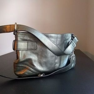 Metallic Coach Handbag